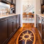Custom inlay wood floor