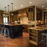 Open kitchen with rustic design