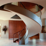 Spectuaular spiral staircase designed by Steve Schill